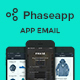PhaseApp Mobile App E-Newsletter PSD Template - GraphicRiver Item for Sale