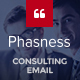 Phasness - Business & Consulting E-Newsletter PSD Template - GraphicRiver Item for Sale