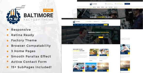 Baltimore Factory - Industrial Business HTML5 Template