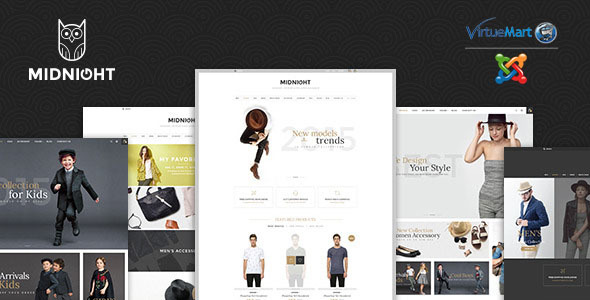 MidNight - Fashion Virtuemart Joomla Template