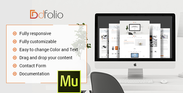 dFolio – Multi Purpose Muse Template