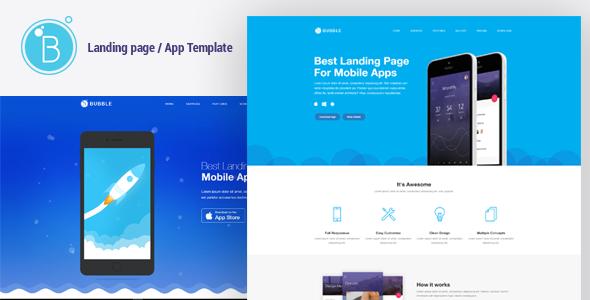 Bubble – App Landing Page HTML Responsive