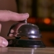 Man Pushes Call Bell At Hotel Arm - VideoHive Item for Sale