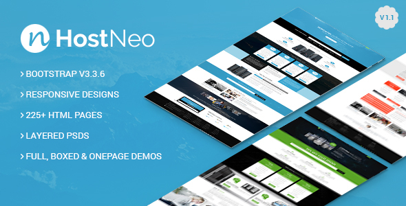 HostNeo - Professional Web Hosting Responsive HTML5 Template - Technology Site Templates