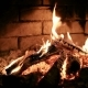 Burning Flame Fire In a Fireplace. . - VideoHive Item for Sale