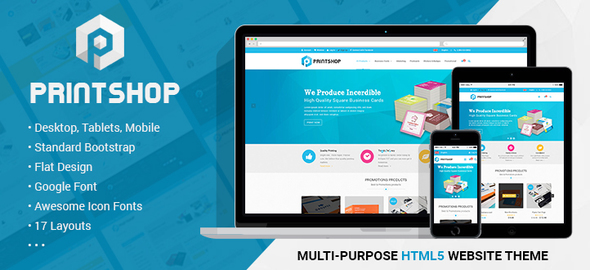 Printshop - Responsive HTML Printing Template - Corporate Site Templates