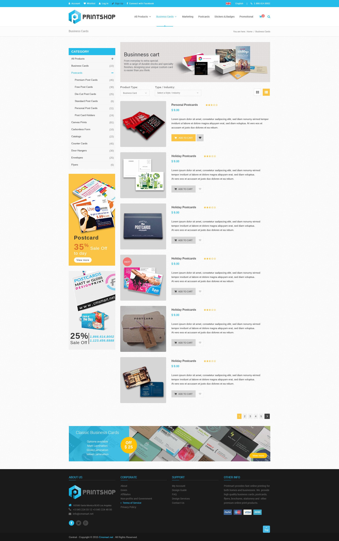 printshop responsive html printing template by netbaseteam