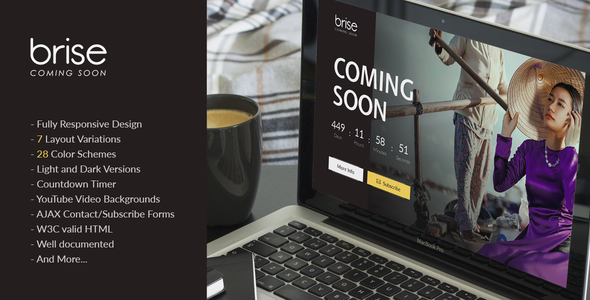 Brise – Responsive Coming Soon Template