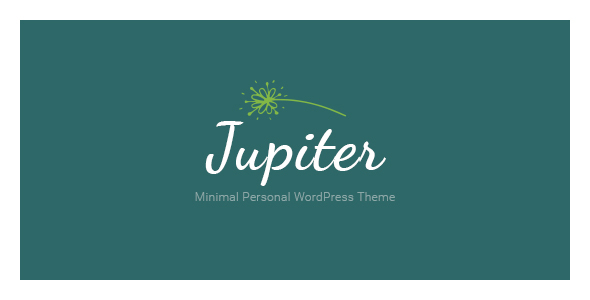 Jupiter Minimal Personal WordPress Theme - Personal Blog / Magazine