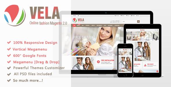Vela – Responsive Magento2 Theme