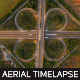 Cloverleaf Interchange Traffic From Above - VideoHive Item for Sale