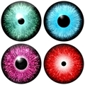 Set of colored eyes - PhotoDune Item for Sale