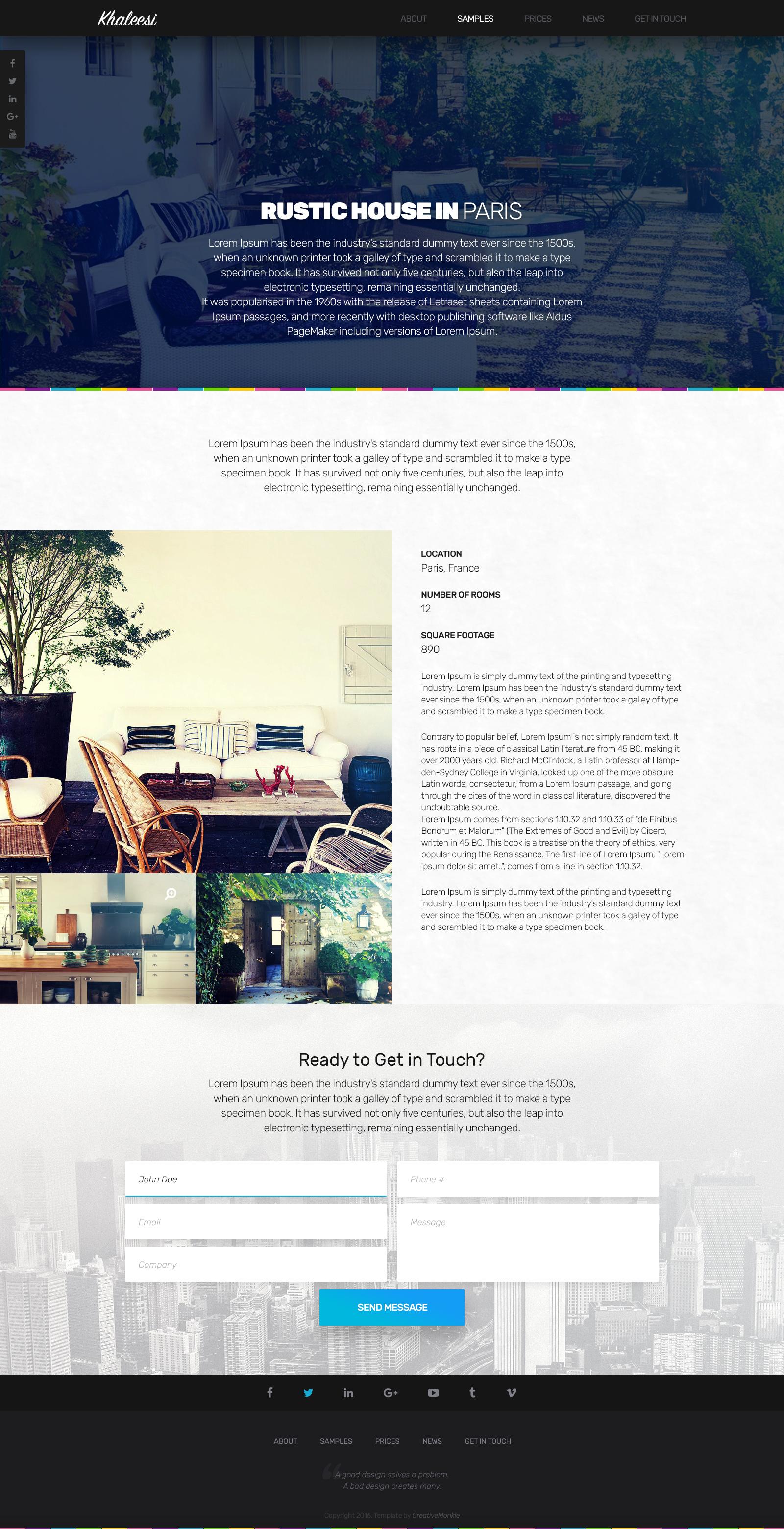 Khaleesi - Interior Design Agency - PSD template