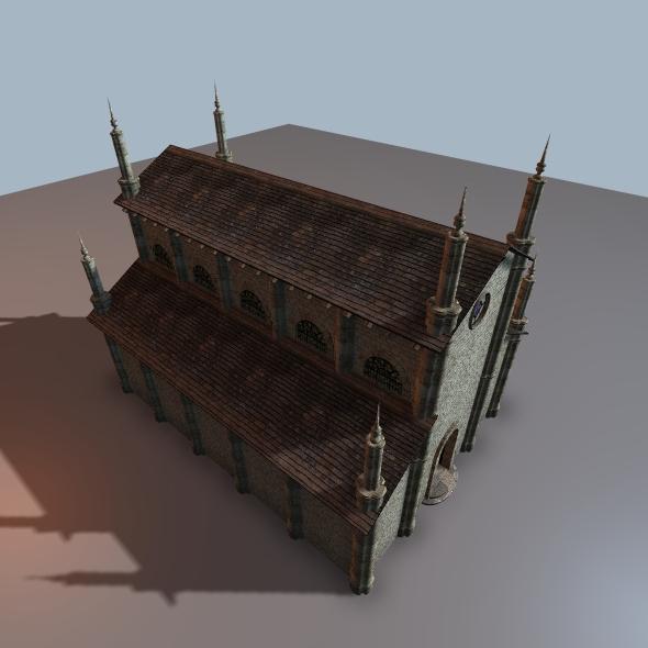 Simple Church Pre Romanesque Style - 3DOcean Item for Sale