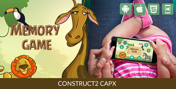 Memory Game - HTML5 Game (Capx) - CodeCanyon Item for Sale
