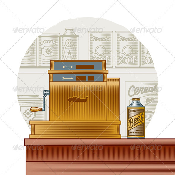 Retro Cash Register - Retail Commercial / Shopping