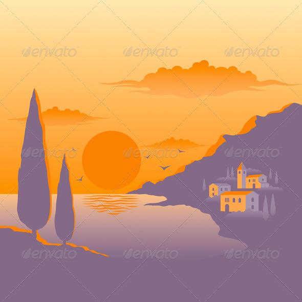 Mediterranean Sunset - Landscapes Nature