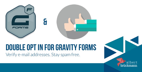 Double Opt in for Gravity Forms - E-Mail Address Verficiation - CodeCanyon Item for Sale