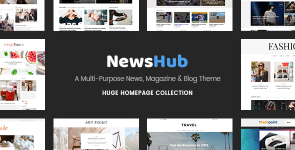 Newshub – A Multi-Purpose News, Magazine & Blog Theme - News / Editorial Blog / Magazine