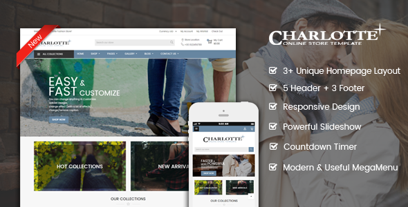 Charlotte | Creative – Modern – Flexible Responsive Shopify Theme