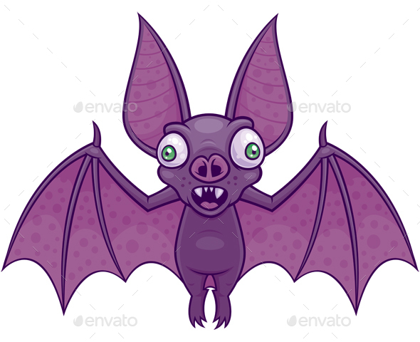 Wacky Vampire Bat - Animals Characters