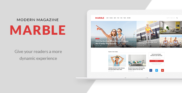 Marble - Modern Magazine PSD Template - Preview Image