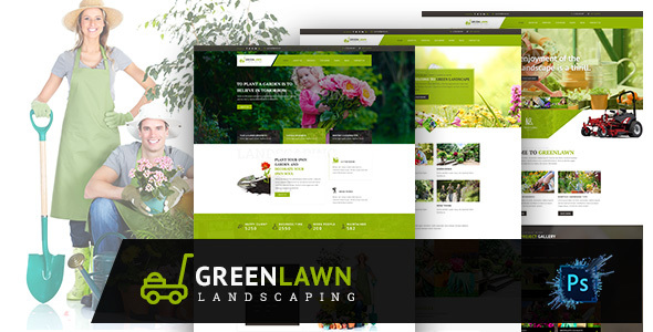 GREENLAWN- Gardening and Landscaping PSD Template
