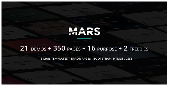 Mars | Multipurpose Parallax Responsive Coming Soon and Under Construction Template - Site Templates