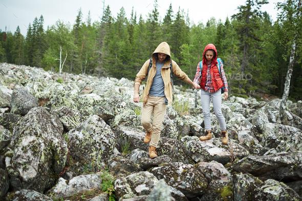 Extreme hiking - Stock Photo - Images