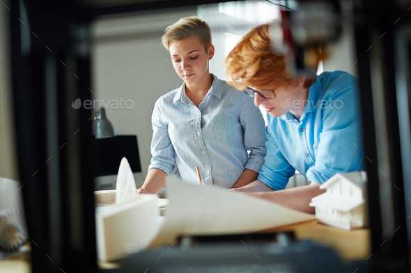 Working at new architectural construction - Stock Photo - Images