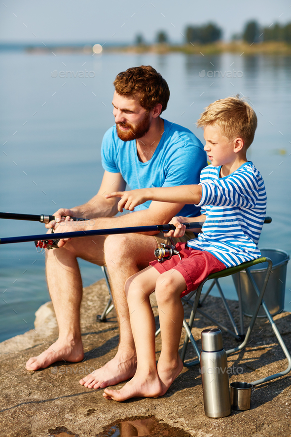 Fishing together - Stock Photo - Images