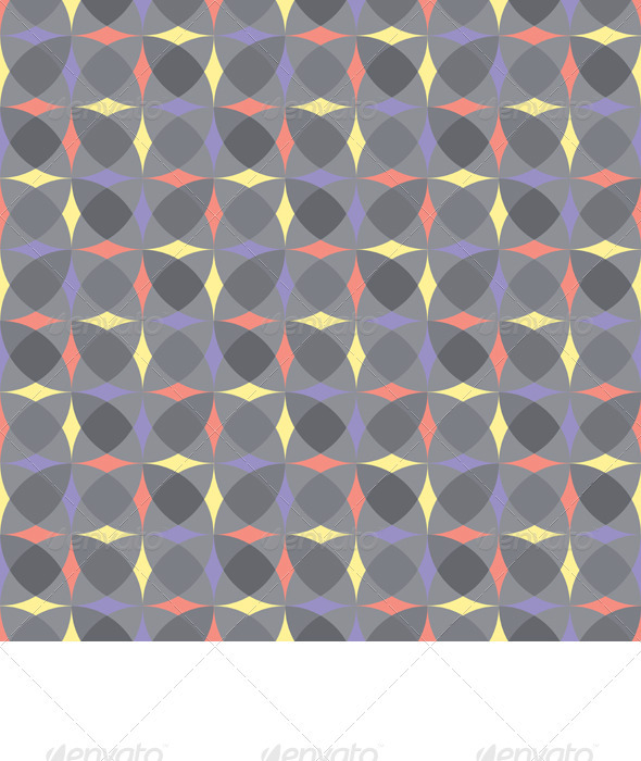 Vector Seamless Gray Geometric Pattern - Patterns Decorative