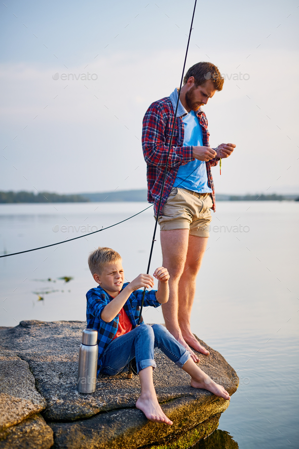 Fishing on weekend - Stock Photo - Images