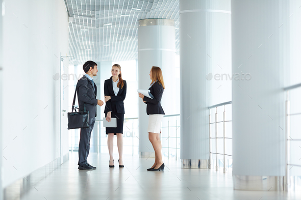 Managers talking - Stock Photo - Images