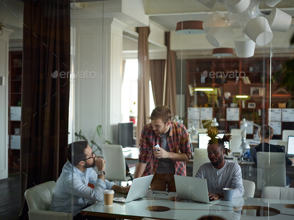 Co-working in office - Stock Photo - Images