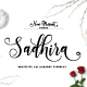 Sadhira Script - Calligraphy Typeface - GraphicRiver Item for Sale