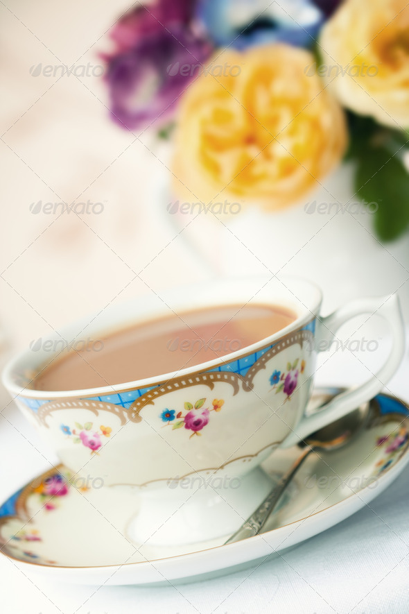 Afternoon tea - Stock Photo - Images