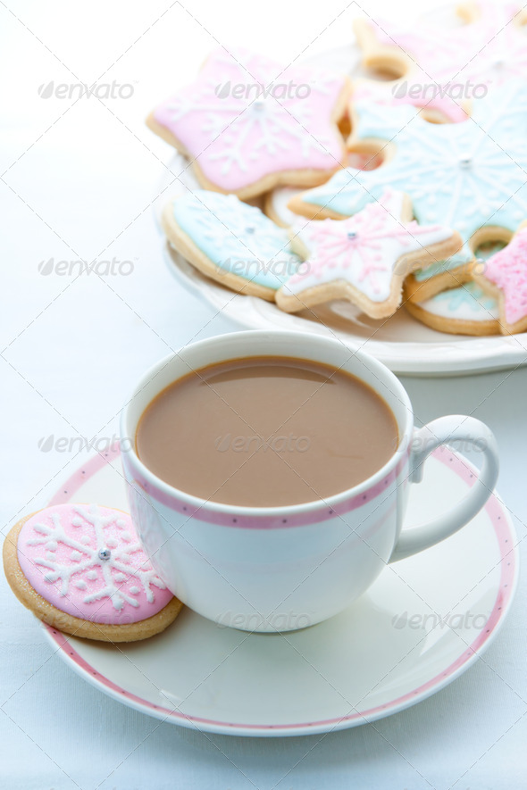 Snowflake cookies - Stock Photo - Images