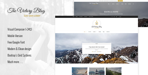 Victory – A Responsive WordPress Blog Theme