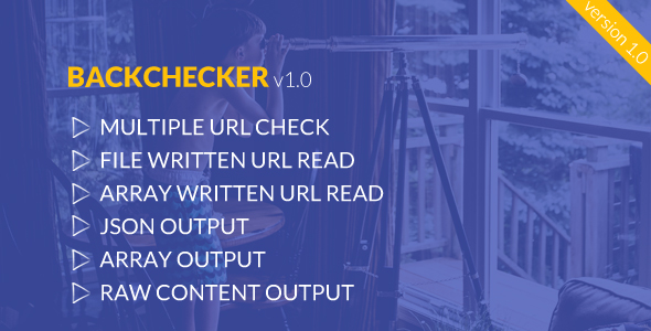 BackChecker - Backlink Monitoring Library - CodeCanyon Item for Sale