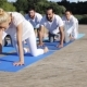 Group Of People Making Yoga Exercises Outdoors 74 - VideoHive Item for Sale