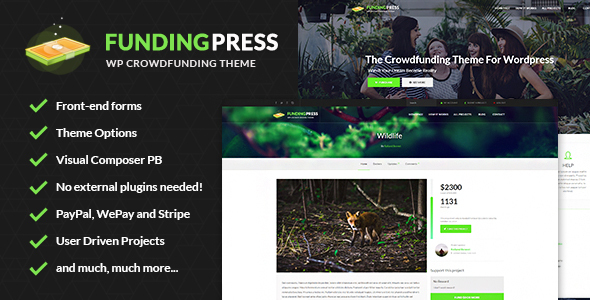 20+ Best Crowdfunding WordPress Themes 2019 19