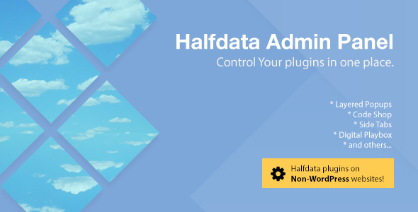 Halfdata Admin Panel - CodeCanyon Item for Sale
