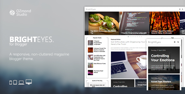 BrightEyes: A Non-Cluttered, Responsive Magazine Theme for Blogger - Blogger Blogging
