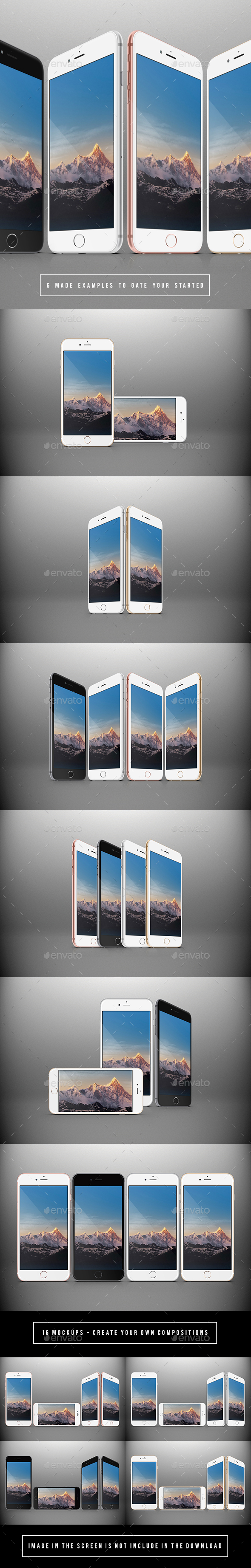 Responsive Phones Mockups Pack