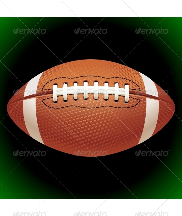 Vector American football ball - Sports/Activity Conceptual
