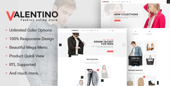 Valentino – Responsive Fashion Prestashop Theme