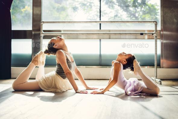 Ballerina Ballet Dance Practice Innocent Concept - Stock Photo - Images