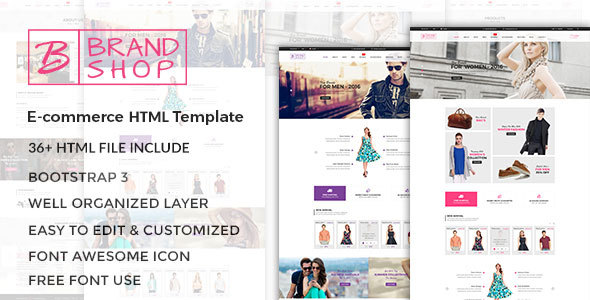 Brandshop  - eCommerce Fashion Template - Fashion Retail