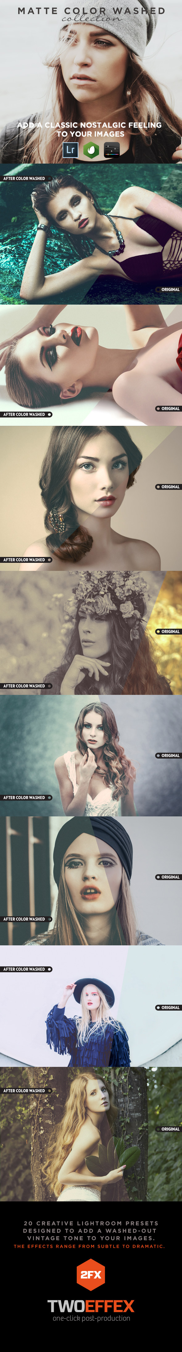 20 - Color Washed Lightroom Presets - Vintage Lightroom Presets